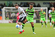 Forest Green Rovers Keanu Marsh-Brown (7) tackles Bromley's Reece Prestedge(16), during the Vanarama National League match between Forest Green Rovers and Bromley FC at the New Lawn, Forest Green, United Kingdom on 17 September 2016. Photo by Shane Healey.