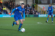 AFC Wimbledon midfielder Anthony Hartigan (8) dribbling during the EFL Sky Bet League 1 match between AFC Wimbledon and Peterborough United at the Cherry Red Records Stadium, Kingston, England on 18 January 2020.