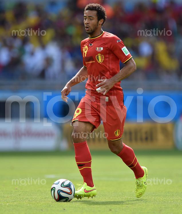 FUSSBALL WM 2014  VORRUNDE    Gruppe H     Belgien - Algerien                       17.06.2014 Mousa Dembele (Belgien) am Ball