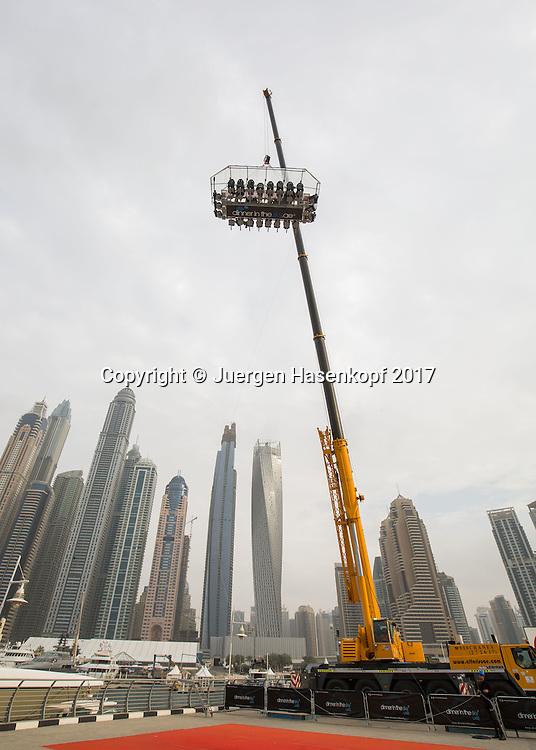 ANGELIQUE KERBER, DINNER IN THE SKY UAE<br /> <br /> Tennis - Dubai Tennis Championships 2017 -  WTA -  Dubai Duty Free Tennis Stadium - Dubai  -  - United Arab Emirates  - 20 February 2017.