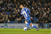 Brighton striker, Anthony Knockaert (27) during the Sky Bet Championship match between Brighton and Hove Albion and Sheffield Wednesday at the American Express Community Stadium, Brighton and Hove, England on 8 March 2016. Photo by Phil Duncan.