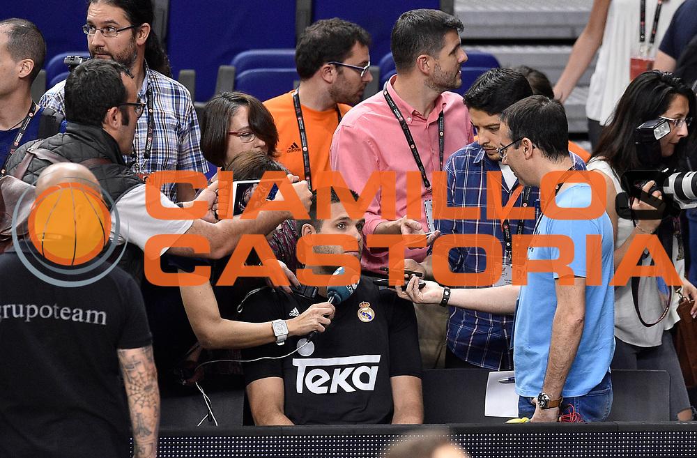 DESCRIZIONE : Madrid Eurolega Eurolegue 2014-15 Final Four Allenamenti Training<br /> GIOCATORE : Felipe Reyes<br /> SQUADRA :  Real Madrid<br /> CATEGORIA : ritratto <br /> EVENTO : Eurolega 2014-2015<br /> GARA : <br /> DATA : 14/05/2015<br /> SPORT : Pallacanestro<br /> AUTORE : Agenzia Ciamillo-Castoria/GiulioCiamillo<br /> Galleria : Eurolega 2014-2015<br /> Fotonotizia : Madrid Eurolega Eurolegue 2014-15 Final Four Allenamento Training