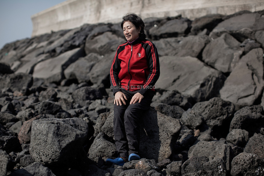 JEJU ISLAND, SOUTH KOREA, APRIL 2011: .Kim Young Yae, born in 1960, Haenyo.In 1950 there were as many as 30,000 haenyo on the island, in 2003 there were only 5,650 sea women registered as divers, of whom 85% were over 50 years old..this can be the last generation of Haenyo Women in Korea..