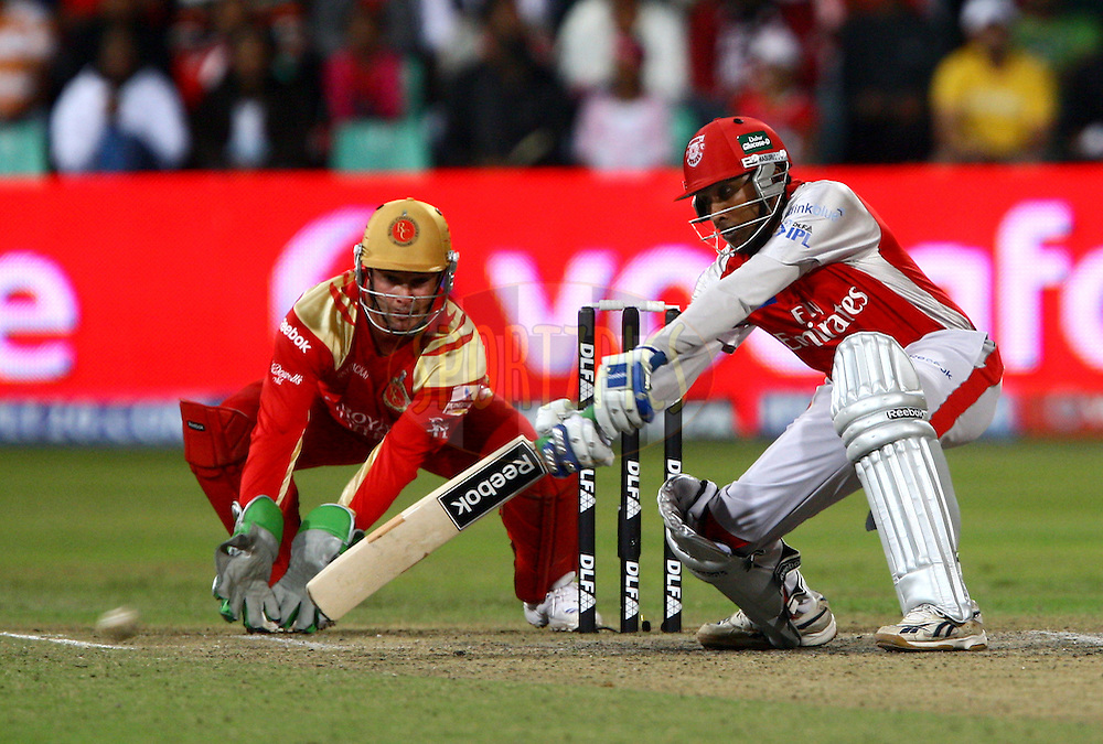 DURBAN, SOUTH AFRICA - 1 May 2009.Jawardene keeps this one out of Bouchers gloves during the IPL Season 2 match between Kings X1 Punjab and the Royal Challengers Bangalore held at Sahara Stadium Kingsmead, Durban, South Africa..