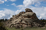 A rock formation near Vedauwoo in the Pole Mountain unit of the Medicine Bow-Routt National Forest in southeastern Wyoming on Sunday, May 28, 2017.
