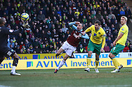 Picture by Paul Chesterton/Focus Images Ltd.  07904 640267.07/01/12.Grant Holt of Norwich scores his sides 1st goal and celebrates during the FA Cup third round match at Carrow Road Stadium, Norwich.
