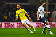 Kemar Roofe of Leeds United (7) in action during the EFL Sky Bet Championship match between Preston North End and Leeds United at Deepdale, Preston, England on 9 April 2019.