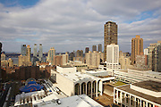View of Lincoln Center from 61 West 62nd Street, 26th floor