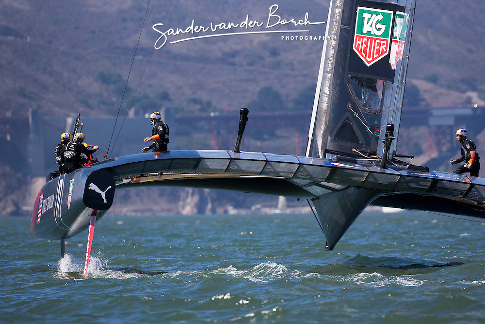 Oracle Team USA vs. Emirates Team New Zealand, Oracle Team USA wins both races to goup to 5-8. September 22nd, San Francisco.