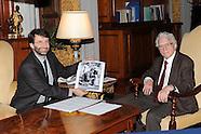 20150120 - Dario Franceschini min Beni Culturali riceve il fotografo Tony Vaccaro