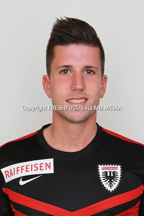 10.07.2014; Aarau; Fussball Super League - Portrait  FC Aarau;<br />Sandro Wieser (Aarau) (Claudia Minder/freshfocus)