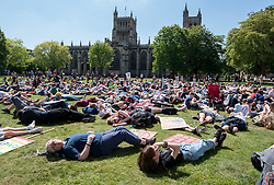 May 24, 2019, Bristol, UK: Youth Strike 4 Climate outside Bristol City Hall on College Green. The Bristol event is part of a series of UK wide and international days of protest as students and school pupils across the world miss classes, striking to protest a lack of governments' action to combat the climate crisis. School students around the world have gone on strike to demand action on climate change. Organisers expect more than one million young people to join the protests in at least 110 countries on Friday 24 May.. (Credit Image: © Simon Chapman/London News Pictures via ZUMA Wire)