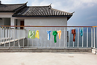 Laundry hanging out to dry in Dali, China.