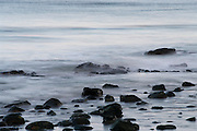 Softened waves, Maine coast, Atlantic Ocean; long shutter speed