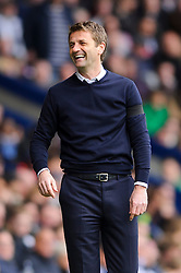 Manager Tim Sherwood (ENG) of Tottenham Hotspur smiles after his sides second goal - Photo mandatory by-line: Rogan Thomson/JMP - 07966 386802 - 12/04/2014 - SPORT - FOOTBALL - The Hawthorns Stadium - West Bromwich Albion v Tottenham Hotspur - Barclays Premier League.