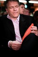 Nederland. Amsterdam, 6 oktober 2007.<br /> PvdA Congres in de RAI. Partijleider Wouter Bos<br /> Foto Martijn Beekman <br /> NIET VOOR TROUW, AD, TELEGRAAF, NRC EN HET PAROOL