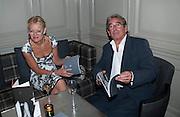 JENNY HILLMAN; DAVID HILLMAN, ( THE BOOK'S DESIGNER_ Diana Donovan, Olga Polizzi, Stuart Johnson host a cocktail reception to celebrate the publication of a Monograph of the Donovan Bar Photographs in the Donovan Bar at Brown's Hotel. Albermarle St. London. 8 September 2009.