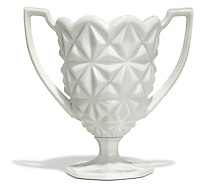 white ceramic trophy