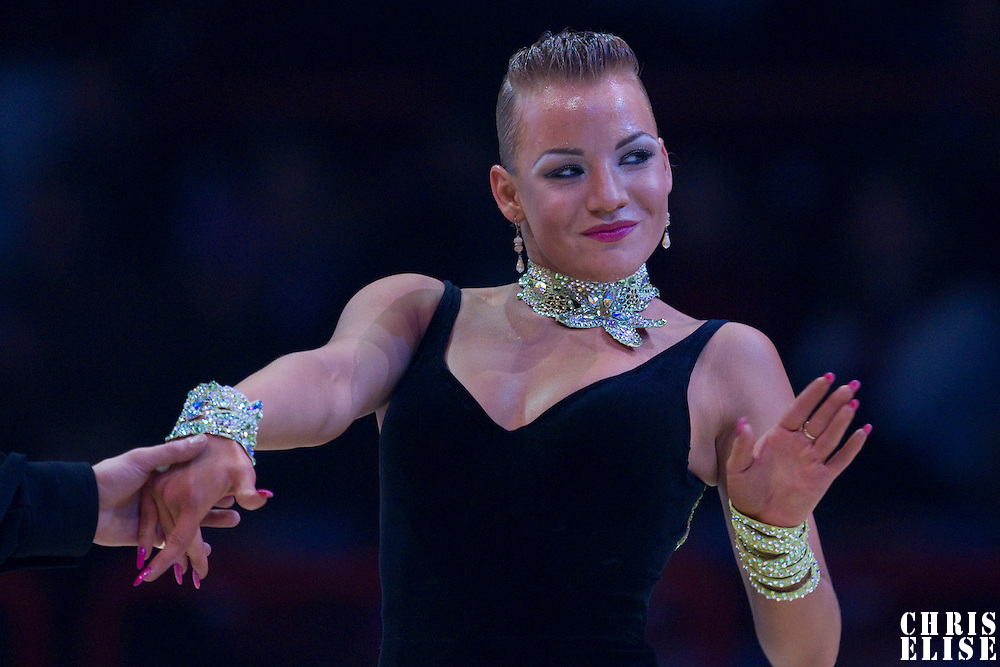23 January 2010: Luize Darzniece performs during the Masters Bercy Latin and Ballroom (standard) Dancesport Championship 2010, at Palais Omnisports Paris Bercy, in Paris, France. .