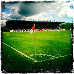 Stirling Albion FC..Hipstamatic images taken on an Apple iPhone..©Michael Schofield.