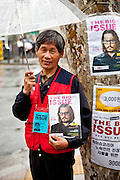 "Portrait of a man selling the magazine ""The Big Issue"" in the center of Seoul."