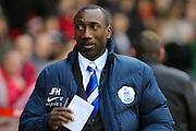 Queens Park Rangers manager Jimmy Floyd Hasselbaink during The FA Cup third round match between Nottingham Forest and Queens Park Rangers at the City Ground, Nottingham, England on 9 January 2016. Photo by Aaron Lupton.