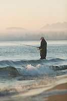 Fishing for salmon near the mouth of the Columbia River.