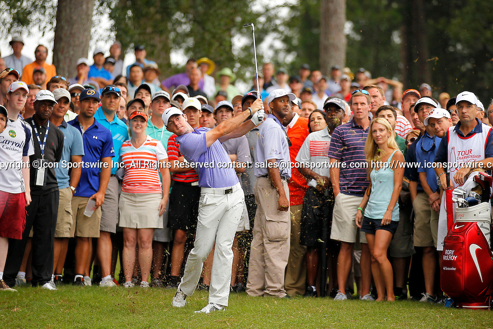 September 14, 2014: Rory McIlroy on the ninth in the final round of the FedEx Cup - The Tour Championship at East Lake Golf Club in Atlanta, Georgia.
