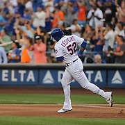 NEW YORK, NEW YORK - July 05: Yoenis Cespedes #52 of the New York Mets runs the bases after hitting a solo home run in the fourth inning during the Miami Marlins Vs New York Mets regular season MLB game at Citi Field on July 05, 2016 in New York City. (Photo by Tim Clayton/Corbis via Getty Images)
