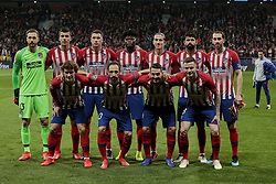 February 20, 2019 - Madrid, Madrid, Spain - Atletico de Madrid's team photo during UEFA Champions League match, Round of 16, 1st leg between Atletico de Madrid and Juventus at Wanda Metropolitano Stadium in Madrid, Spain. February 20, 2019. (Credit Image: © A. Ware/NurPhoto via ZUMA Press)