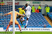 Burton's Lloyd Dyer (11) makes an interception as Leeds attack during the EFL Sky Bet Championship match between Leeds United and Burton Albion at Elland Road, Leeds, England on 29 October 2016. Photo by Richard Holmes.