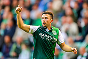Lewis Stevenson (#16) of Hibernian during the Europa League match between Hibernian and NSÍ Runavik at Easter Road, Edinburgh, Scotland on 12 July 2018. Picture by Craig Doyle.