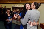 Cecilia Zandalasini, Martina Bestagno<br /> Stelle d'Argento a Lucca. Premiazione Under 17 e Under 20 Femminili<br /> FIP 2016<br /> Lucca, 18/11/2016<br /> Foto Ciamillo - Castoria
