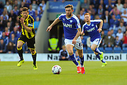 Chesterfield FC miffielder Jay O'Shea on the attack during the Sky Bet League 1 match between Chesterfield and Burton Albion at the Proact stadium, Chesterfield, England on 26 September 2015. Photo by Aaron Lupton.