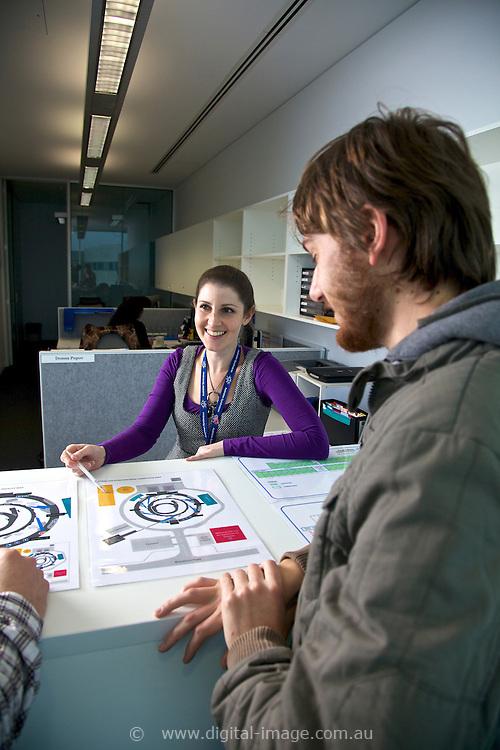 Donna Popov, User Office, Joseph Bartho, (grey jacket), University of Auckland.