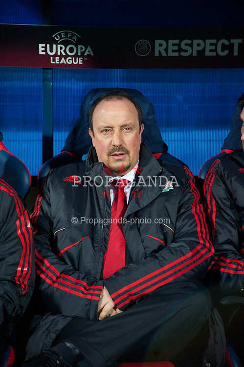 BUCHAREST, ROMANIA - Thursday, February 25, 2010: Liverpool's manager Rafael Benitez during the UEFA Europa League Round of 32 2nd Leg match against FC Unirea Urziceni at the Steaua Stadium. (Photo by David Rawcliffe/Propaganda)