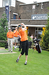 JODIE KIDD at the Mini Masters Golf tournament in aid of LEUKA - London's first celebrity golf tournament held at Duke's Meadow Golf Club, Dan Mason Drive, London W4 on 14th July 2008.<br /> <br /> NON EXCLUSIVE - WORLD RIGHTS