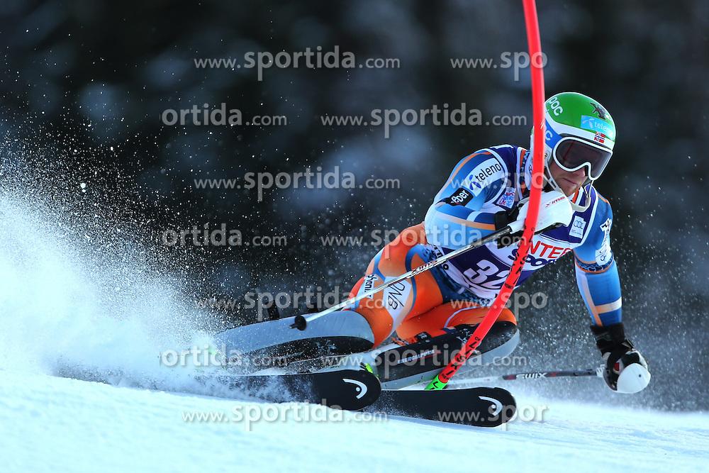 06.01.2014, Stelvio, Bormio, ITA, FIS Weltcup Ski Alpin, Bormio, Slalom, Herren, im Bild Jonathan Nordbotten // Jonathan Nordbotten  in action during mens Slalom of the Bormio FIS Ski World Cup at the Stelvio in Bormio, Italy on 2014/01/06. EXPA Pictures © 2014, PhotoCredit: EXPA/ Sammy Minkoff<br /> <br /> *****ATTENTION - OUT of GER*****