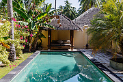 INDONESIA, Karimunjawa Archipelago, Kura Kura Resort, the private villa with the pool