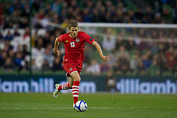 DUBLIN, REPUBLIC OF IRELAND - Friday, May 27, 2011: Wales' Adam Matthews in action against Northern Ireland during the Carling Nations Cup match at the Aviva Stadium (Lansdowne Road). (Photo by David Rawcliffe/Propaganda)
