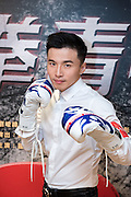 "Launch of the MMA movie ""Fist of Youth"" in Hong Kong. Stars of the movie. A-Wei (Liu Jun Wei) from Lollipop F ,a Taiwanese Mandopop boy band, tries his hand at acting and MMA"