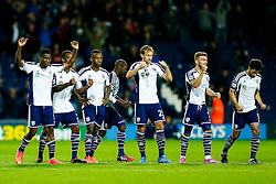 West Brom players celebrate after winning the penalty shootout when Jason Davidson scores his attempt - Photo mandatory by-line: Rogan Thomson/JMP - 07966 386802 - 26/08/2014 - SPORT - FOOTBALL - The Hawthorns, West Bromwich - West Bromwich Albion v Oxford United - Capital One Cup Round 2.
