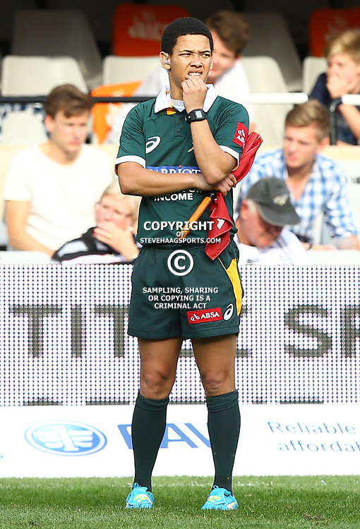 DURBAN, SOUTH AFRICA - SEPTEMBER 05: Jason Jafta (Assistant Referees) during the Absa Currie Cup match between Cell C Sharks and Steval Pumas at Growthpoint Kings Park on September 05, 2015 in Durban, South Africa. (Photo by Steve Haag/Gallo Images)