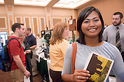 "Margaret Gain....Ohio University Graduation Fair 2008: Countdown to Commencement was on April 16 in Baker University Center Ballroom. The event offered ""one-stop shopping"" for all things graduation, said Director of University Events Gretchen Stephens."
