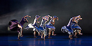 Alvin Ailey American Dance Theater<br /> at <br /> Sadler&rsquo;s Wells London Season and subsequent UK Tour 6 Sept &ndash; 19 Oct 2016<br /> <br /> <br /> Artistic director Robert Battle<br /> <br /> 7th September 2016 <br /> <br /> <br /> <br /> rehearsal <br /> <br /> Alvin Ailey American Dance Theater, founded in 1958, is recognised by the U.S. Congress as a vital American &ldquo;Cultural Ambassador to the World.&rdquo;  Under the leadership of Artistic Director Robert Battle, Ailey&rsquo;s performances celebrate the human spirit through the African-American cultural experience and the American modern dance tradition.  In almost six decades, Ailey&rsquo;s artists have performed for over 25 million people in 71 countries on six continents and continue to wow audiences and critics around the world.<br /> <br />  <br /> <br /> Four Corners (UK PREMIERE) Choreographer: Ronald K. Brown / Music: Carl Hancock Rux, Yacoub &amp; Various Artists. Four Corners brings to life the vision of four angels standing on the four corners of the earth holding the four winds. Drawing inspiration from the lyrics of Rux's Lamentations, Four Corners trails 11 dancers as they rise to seek a life of peace on the &ldquo;mountaintop&rdquo;; a powerful and hope-filled journey of tribulation, devotion and triumph.<br /> <br /> <br /> Photograph by Elliott Franks <br /> Image licensed to Elliott Franks Photography Services