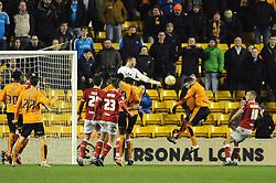 Matt Doherty of Wolverhampton Wanderers scores late in the game with a header - Mandatory byline: Dougie Allward/JMP - 08/03/2016 - FOOTBALL - Molineux Stadium - Wolverhampton, England - Wolves v Bristol City - Sky Bet Championship
