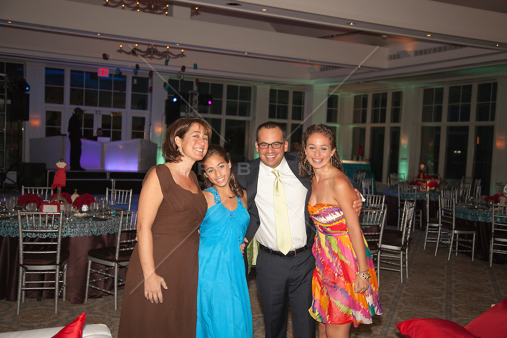 Bat Mitzvah girl and her family at the reception party