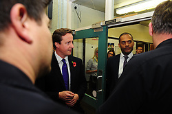 Leader of the Conservative Party David Cameron with Adam Afriyie visits Windsor Fire Station,The station is under threat of being closed at night ,Tuesday  October 27, 2009 . Photo By Andrew Parsons / i-Images.