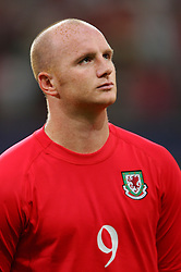 CARDIFF, WALES - Wednesday, September 8, 2004: Wales' John Hartson lines-up before the Group Six World Cup Qualifier against Northern Ireland at the Millennium Stadium. (Pic by David Rawcliffe/Propaganda)