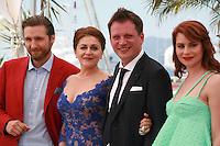 Actor Goran Markovic, actress Nives Ivankovic, director Dalibor Matanic and actress Tihana Lazovic at the Zvizdan (The High Sun) film photo call at the 68th Cannes Film Festival Sunday 17th May 2015, Cannes, France.